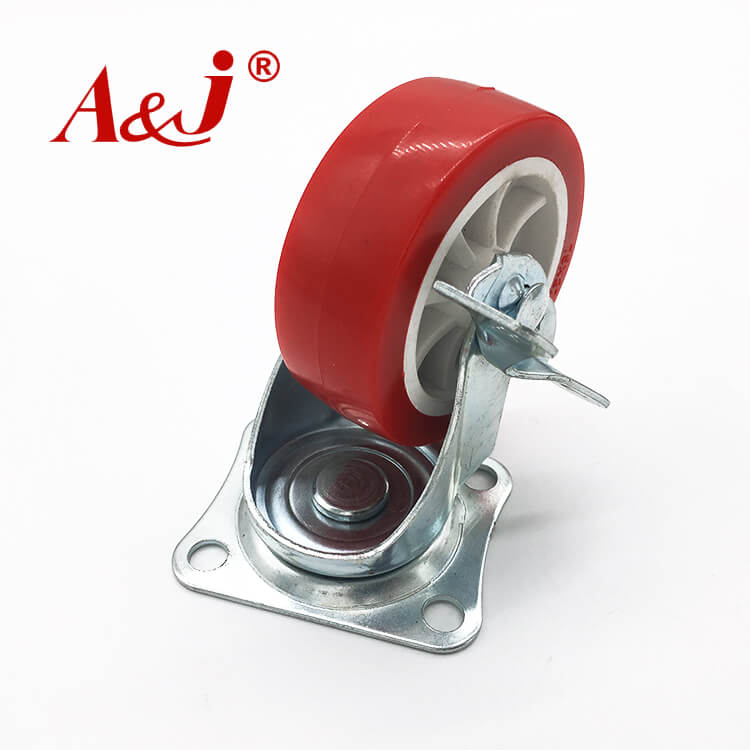 With brake iron pp material chair wheel wholesale manufacturers