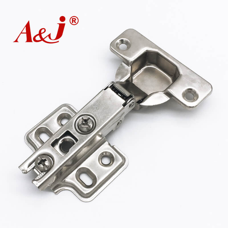 Two section force without hydraulic rod kitchen cabinet hinges